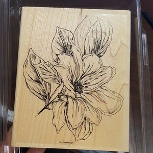 Giant flower rubber stamp